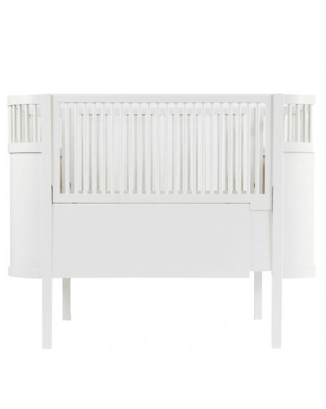SEBRA - Baby and junior bed 0-7 years old - White