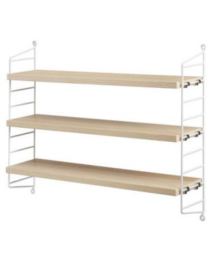 STRING POCKET - BOOKSHELF - White / Ash