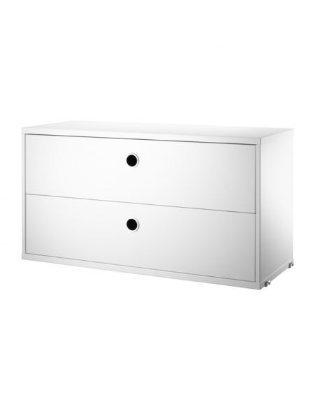 STRING - STORAGE WITH 2 DRAWERS 78 x 30 cm
