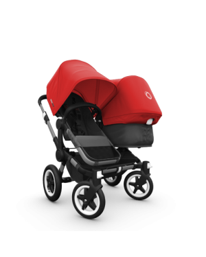 BUGABOO - DONKEY - DUO - pram with alu and black base + fabric set + extension alu pram and black base + extendable sun canopy