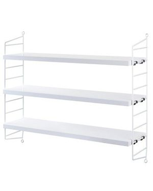 STRING POCKET - WALL SHELVES White