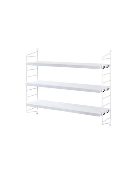 String Pocket Wall Shelf With Scandinavian Style For