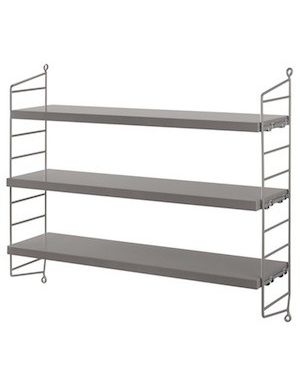 STRING POCKET - BOOKSHELF - Grey