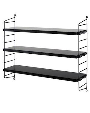 STRING POCKET - BOOKSHELF - Black