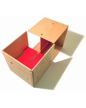 PERLUDI-MAX IN THE BOX-Meuble multifonction rouge
