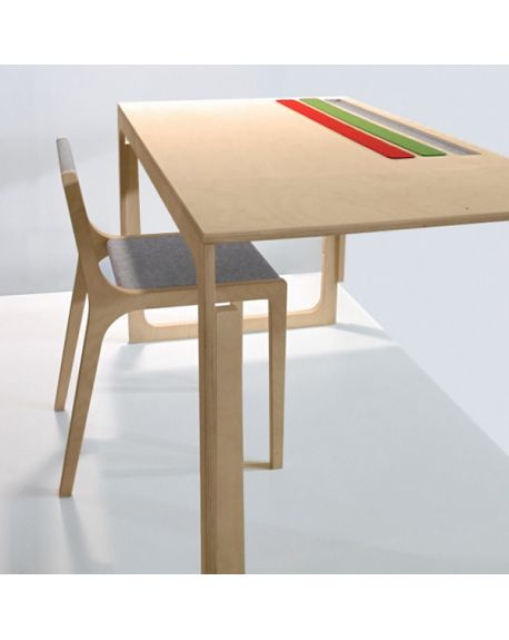 SIRCH - VACLAV - Design desk for children and SLAWOMIR chair - Red, Green or Grey