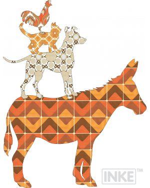 INKE - BREMEN SET - Sticker pour les murs - Orange ou Vert