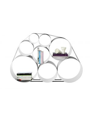 MUUTO-OTO 100-ETAGERE MODULABLE-avec 8 cylindres Blanche
