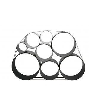 MUUTO-OTO 100-ETAGERE MODULABLE-avec 8 cylindres noire