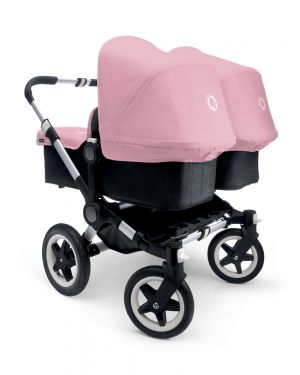 BUGABOO - DONKEY - TWIN - pram with alu and black base + fabric sets + extension alu pram and black base + carrycots