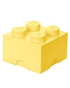LEGO - BOITE DE RANGEMENT - 4 plots - Jaune claire