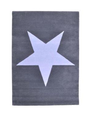 LORENA CANALS - STAR - RUG IN WOOL - Grey/Blue 140 x 200 cm