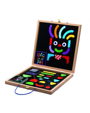 DJECO - GEO BONHOMME - Magic board and pieces - Age : from 4 years old