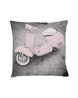 BLOOMINGVILLE - VESPA Cushion Grey / Pink