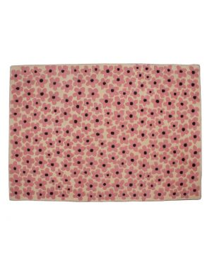LORENA CANALS - FLEURS - RUG IN WOOL - Pink 140 x 200 cm