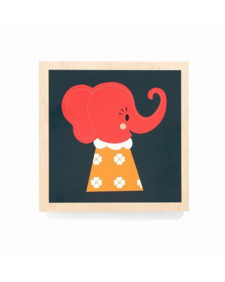 FERM LIVING-ELLE ELEPHANT-Cadre en bois