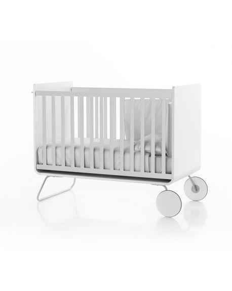 BE - BE COT - Lit bébé évolutif design devenant bureau/ Barreaux coulissants