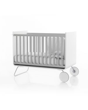 BE - BE COT - Lit bébé évolutif design devenant bureau/ Barreaux coulissants