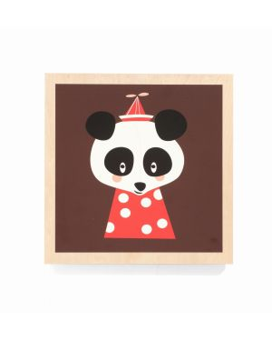 FERM LIVING-Cadre en bois POSEY PANDA