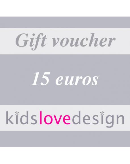 ELECTRONIC GIFT VOUCHER - 15 euros