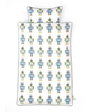 FERM LIVING - ROBOTS - Duvet and pillow cover 100 x 140