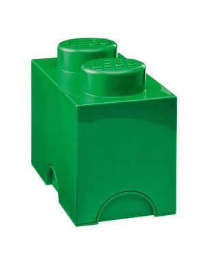 LEGO - STORAGE BOX - 2 studs / Classic green