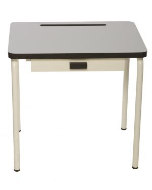 LES GAMBETTES REGINE - Design school desk for kids 2-7 y.o. - Pearl grey