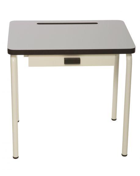LES GAMBETTES REGINE - Design school desk for kids 2-7 y.o. - Pearl grey