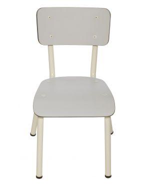 LES GAMBETTES LITTLE SUZIE - Chaise d'écolier design - Gris perle