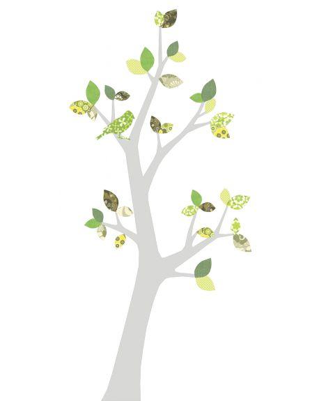 INKE - TREE3 SEPTEMBER - Green leaves/Trunk several colours