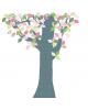 INKE - TREE 1 APRIL-Tree in vintage wallpaper/Pink leaves