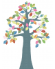 INKE - TREE 2 MAY - Tree in vintage wallpaper/Multicolour leaves