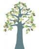 INKE - TREE 2 SEPTEMBER - Tree in vintage wallpaper/Green leaves