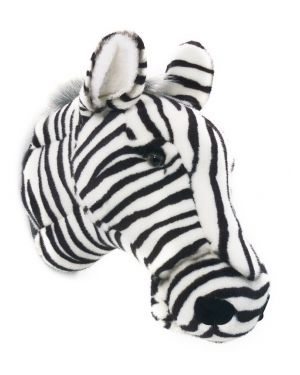 WILD & SOFT - Trophy in plush - Zebra head