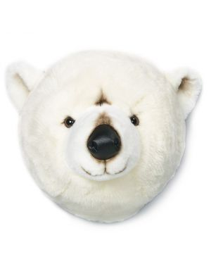 WILD & SOFT - Trophy in plush - Polar bear's head- Basile