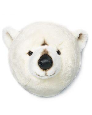 WILD & SOFT - Trophée en peluche - Tête d'ours polaire - Basile