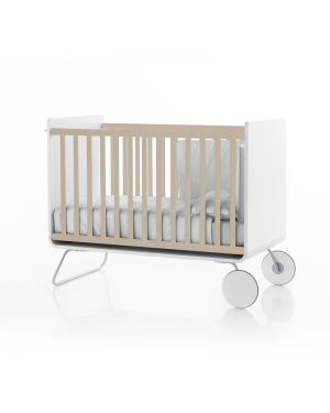 BE - BE COT - Lit bébé évolutif design devenant bureau - Barreaux coulissants
