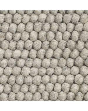 HAY-PEAS Tapis contemporain en laine / Gris clair