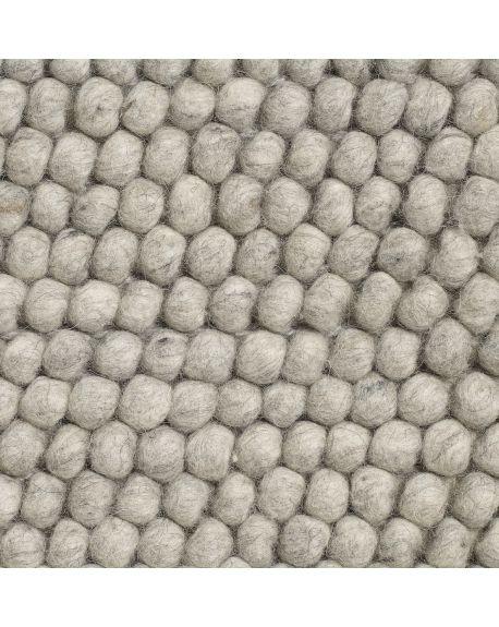HAY - PEAS Contemporary rug in Wool / Soft Grey