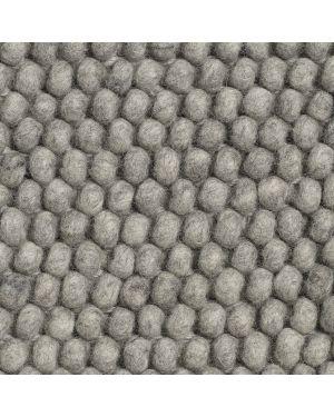 HAY-PEAS Tapis contemporain en laine / Gris Moyen
