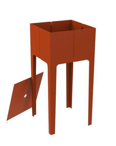 MATIERE GRISE - CAPE HAUT Chevet ou Table d'appoint design metal