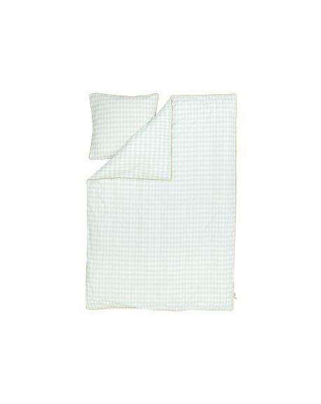 FERM LIVING - Parure de Lit Adulte - Harlequin Mint - 140 x 200 cm