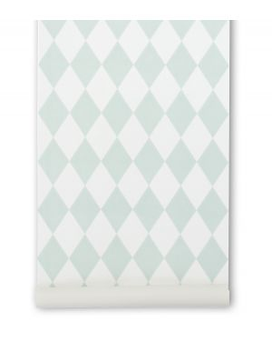 FERM LIVING - HARLEQUIN WALLPAPER - Mint