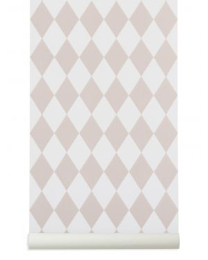 FERM LIVING - HARLEQUIN WALLPAPER - Pink