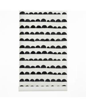 FERM LIVING-HALF MOON Papier peint Noir