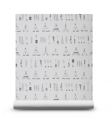 ferm living papier peint luxe pour d coration chambre d 39 enfant contemporaine design scandinave. Black Bedroom Furniture Sets. Home Design Ideas