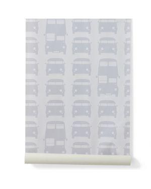 FERM LIVING-RUSH HOUR Papier peint - Gris