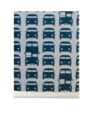FERM LIVING-RUSH HOUR Papier peint - Petrole