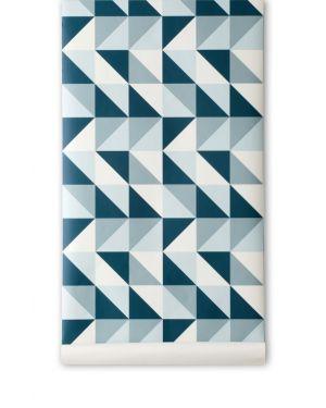FERM LIVING-REMIX Papier peint - Bleu