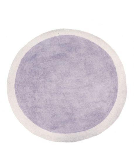 MUSKHANE - LUMBINI Round Felt rug for children / 120 cm Light stone / Iris
